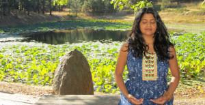Meditating at Lotus Lake